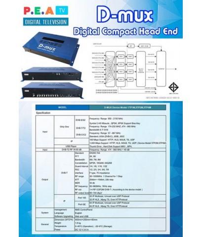 ชุด DIY ระบบดิจิตอลทีวี ง่ายสำหรับการติดตั้ง 30ช่องไทย D MUX