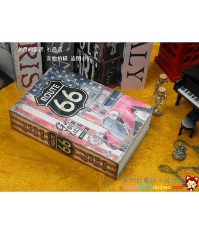 ตู้เซฟหนังสือ ลาย Route66