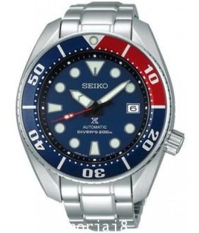 นาฬิกาผู้ชาย SEIKO SUMO PEPSI หน้าเป็ปซี่ รุ่น SBDC057 แดงน้ำเงิน Original