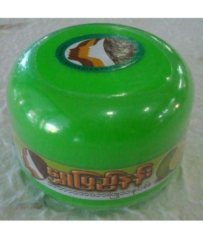 แป้งพม่า ทานาคากระปุกเล็ก เนื้อแป้งอัดแข็ง กลิ่นมะนาว
