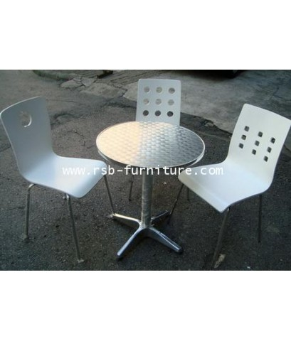 โต๊ะกลมผิวอลูมิเนียม ขนาด 60 cm