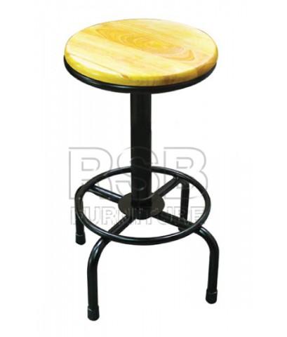 เก้าอี้บาร์ ที่นั่งไม้ รหัส 2866