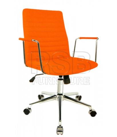 เก้าอี้สำนักงาน พนักพิงหุ้มผ้า รับน้ำหนัก 100 KG รหัส 2880
