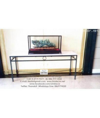 ชั้นเหล็กดัดอิตาลีสั่งทำ Wrought Iron Steel Shelf @ Evergreen ServiceApartment, Ratchathewee Rd. Bkk