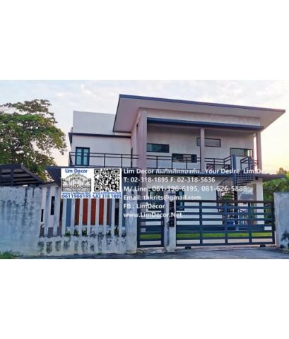 LB-2548 ราวบันไดเหล็ก Metal Steel Railing @Petchburi House Huykwang Bangkok