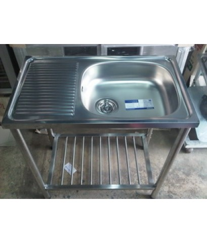 ซิ้งค์ล้างจานพร้อมขาตั้งสแตนเลส ตราเพชร รุ่น LSS-1072