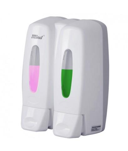 เครื่องจ่ายสบู่เหลวคู่ (แบบกด) Press systems Soap Dispenser 0603-003