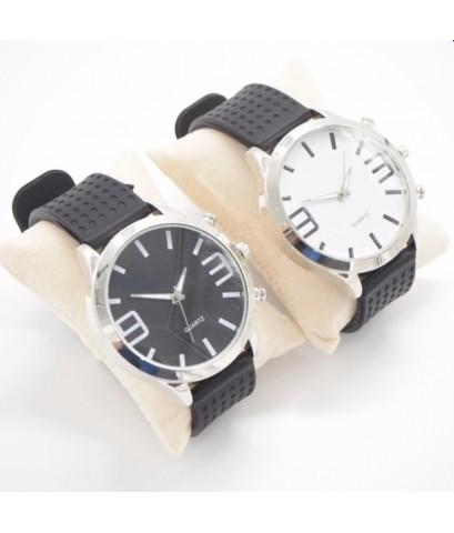 QUARTZ นาฬิกาคู่รัก นาฬิกาข้อมือคู่รัก เซ็ตคู่ นาฬิกาคู่ นาฬิกาข้อมือ [1black-1white]