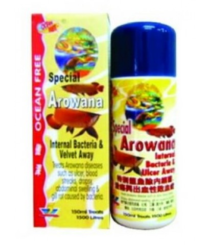 Special  Arowana Internal Bacteria  Ulcer Away 150 ml.