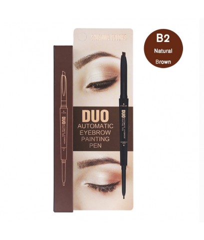 Sivanna Colors Automatic Eyebrow Duo Painting Pen B2 Natural Brown ราคาส่งถูกๆ W.40 รหัส K1-2