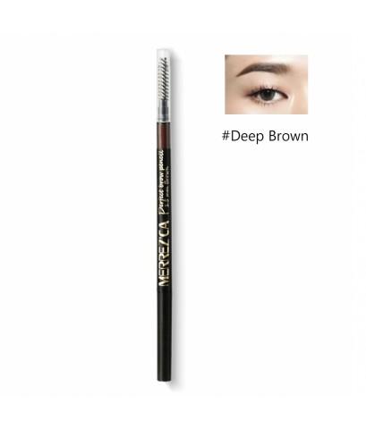 Merrez\'ca Perfect Brow pencil ดินสอเขียนคิ้วเมอร์เรซกา Deep Brown สีน้ำตาลเข้ม W.20 รหัส K209-2