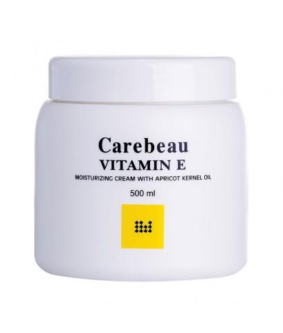 Carebeau Vitamin E Body Cream สูตรอ่อนโยน ผิวใส ออร่า 500 g ราคาส่งถูกๆ W.555 รหัส BD95-1