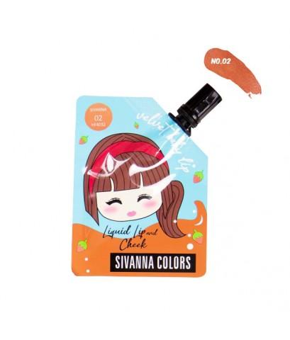 Sivanna Colors Velvet Baby Lip Liquid Lip and Cheek HF4032 No.02 ราคาส่งถูกๆ W.35 รหัส L979