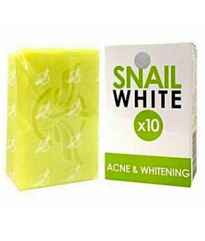 สบู่ SNAIL WHITE X10 ACNE  WHITENING สีเขียว ลดสิว W.110 รหัส.SP119