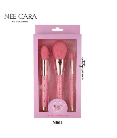 Nee Cara be Colorful ~ Star 3-Piece Brush Set เซตแปรง W.150 รหัส EM744