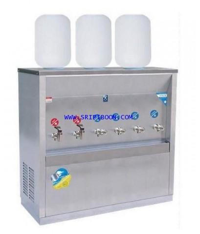 ตู้ทำน้ำเย็น-น้ำร้อน MAXCOOL แม็คคูล MCH-6P_SP ถังคว่ำ 6 ก๊อก (ร้อน2 เย็น4) 3 ถัง (แผงรังผึ้ง) IAUXX