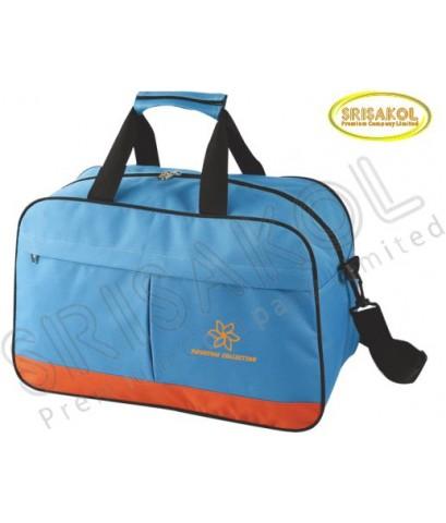กระเป๋าเดินทาง สีฟ้า สลับ สีส้ม  รหัส A2014-7B