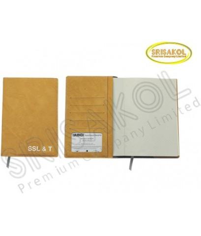 สมุด Note/Diary A5  มีช่องใส่นามบัตร (ปก PU ถอดได้) รหัส A1918-12D