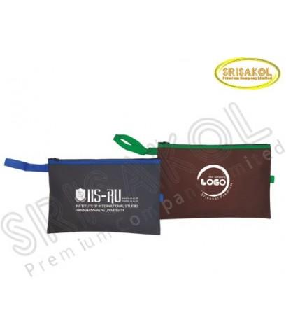 กระเป๋าใส่ของจุกจิก คละสี มีซิป  รหัส A2023-1B