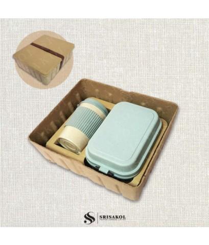 ชุดกล่องข้าว + แก้วน้ำ ECO รหัส 2109-2SG