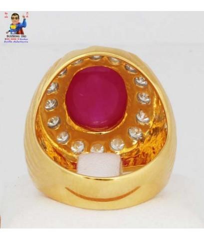 แหวนทับทิม-เพชร