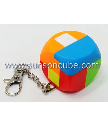 6 pieces Assembly Truncated Cube - Keychian