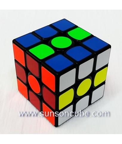 3x3x3 GAN 356X numberical IPG - Magnetic  / (ฺBlack)