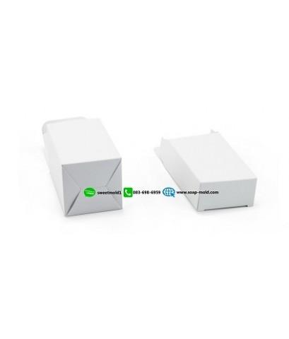กล่องกระดาษสีขาวเปิดบนล่าง ขนาด 8x11x4cm แพ็ค 100 ชิ้น