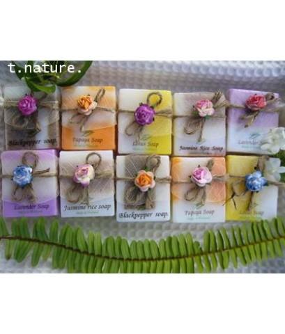 handmade soap 10 bar in silk box