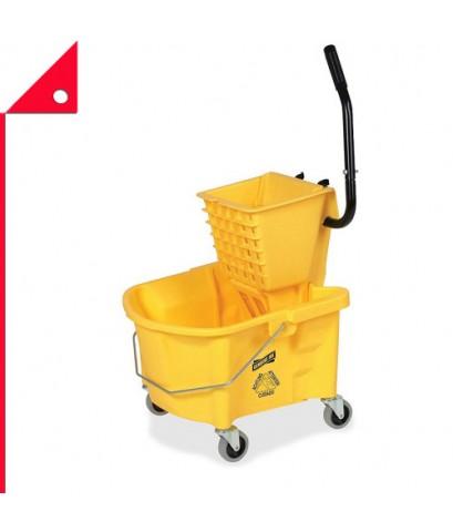 Genuine Joe : GJO60466* ถังซักผ้าขี้ริ้ว Splash Guard Mop Bucket/Wringer, Yellow