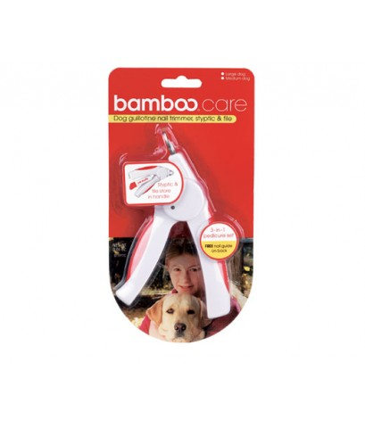 Bamboo 90021 Dog quillotine Nail Trimmer,File  Styptic Dispenser