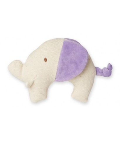 Green Point : GRP46052 ยางกัดแบบผ้า Canvas Natural Teether: Elephant - Purple