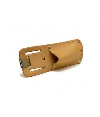 Pacific Handy : PHDPCUKH326* ซองใส่มีดคัดเตอร์ Cutters Tan Leather Sheath Holster with Clip