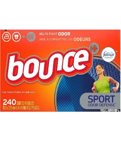 Bounce : BOU0005* แผ่นหอมปรับผ้านุ่ม Plus Febreze Sport Odor Defense Fabric Softener Dryer Sheets 24