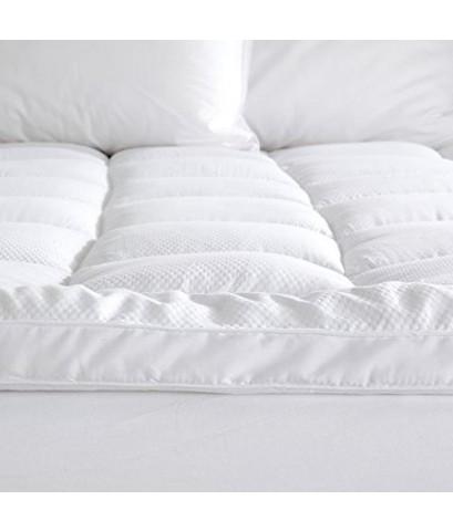 Great Bay Home : GBHAMZ001* เบาะรองที่นอน Twin Mattress Topper Twin, White