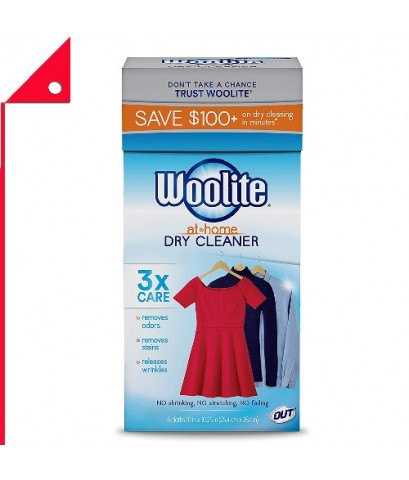 Woolite Home : WLTDCS04N* น้ำยาซักเเห้ง Woolite Home Dry Cleaner, 6 Count