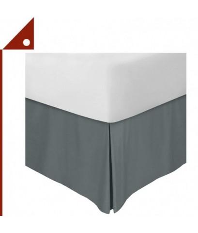 Utopia : UTPUB0231* ผ้าคลุมชายเตียง Bedding Bed Skirt Full Size, Grey