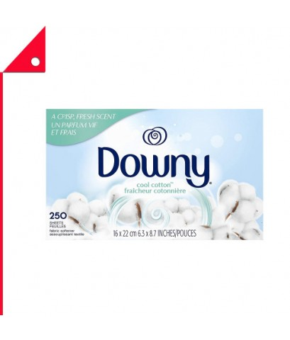 Downy : DWN CCT-250* แผ่นปรับผ้านุ่ม Downy Fabric Softener Dryer Sheets Cool Cotton, 2 Count