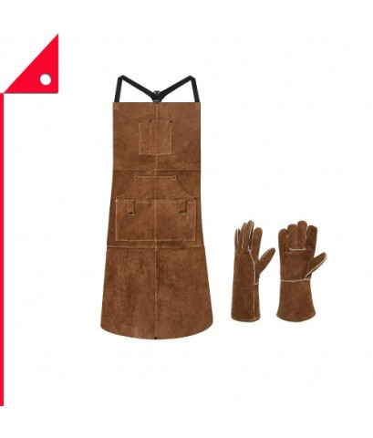 Eletecpro : ETP JC9001BW* ผ้ากันเปื้อนหนัง Leather Welding Apron  Welding Gloves