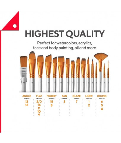 Benicci : BNCAMZ001* ชุดพู่กัน Paint Brush Set of 16