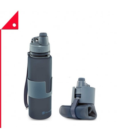 Nomader : NMDGRY-22* ขวดน้ำพับได้ Collapsible Water Bottle Gray 22oz.
