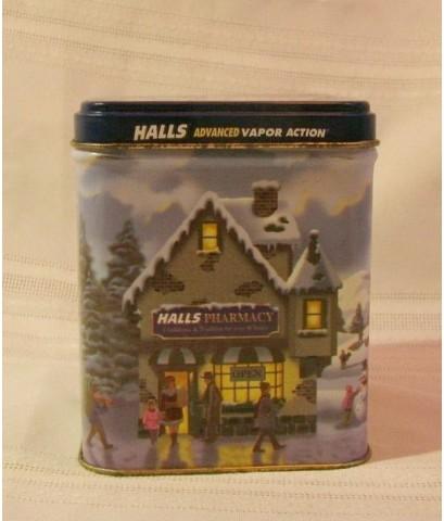 กระป๋องฮอลล์จิ๋ว Halls Mentho lyptus สภาพสวย