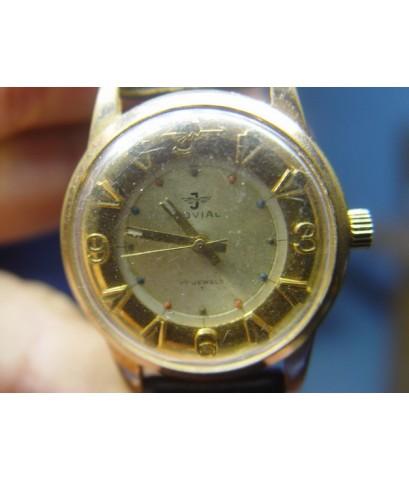 นาฬิกา Swissโบราณ JOVIAL ระบบไขลาน สีทอง ใช้งานได้ปกติ