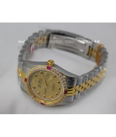 นาฬิกา Olym pianus gent Crystal Shapphire T89322-630 สองกษ้ตริย์