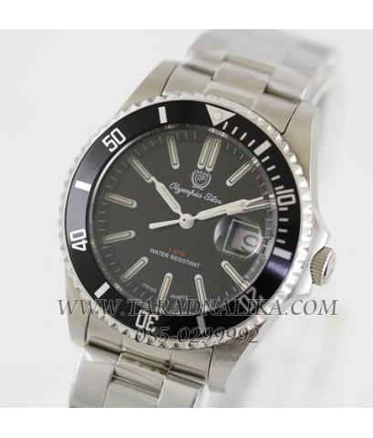 นาฬิกา Olympia Star swiss sapphire submariner หลอดแก็สเรืองแสง 25 ปี 899831.Q1-204