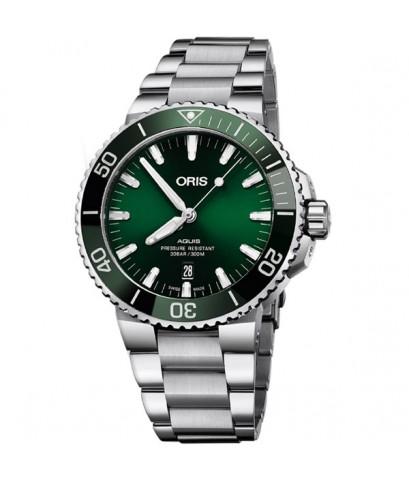 นาฬิกา Oris Aquis Date 73377304157 New Green dial