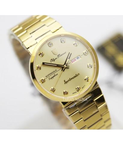 นาฬิกา Olym pianus sportmaster ควอทซ์ sapphire 890-09M-406E เรือนทอง