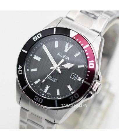 นาฬิกา ALBA Smart gent AG8J35X1 หน้าปัดดำ