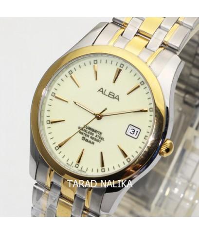 นาฬิกา ALBA basic Gent AXHK92X1 สองกษัตริย์ หน้าปัดเรืองแสง