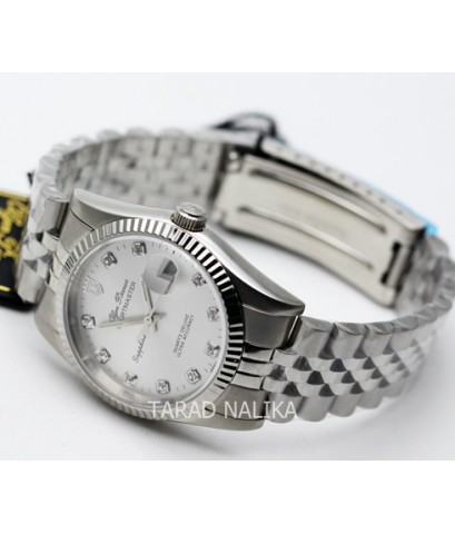 นาฬิกา Olym pianus sportmaster sapphire 89322-616 หน้าปัดสีเงิน